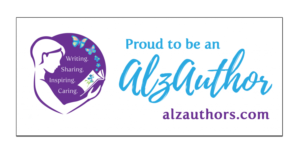 """Badge saying """"Proud to be an AlzAuthor!"""